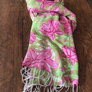 Lilly Pulitzer silk/cashmere Murfee scarf